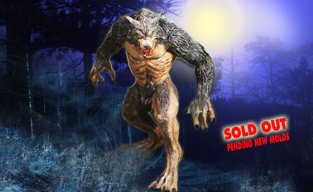 Werewolf designed and sculpted by tom ovenshire. available through